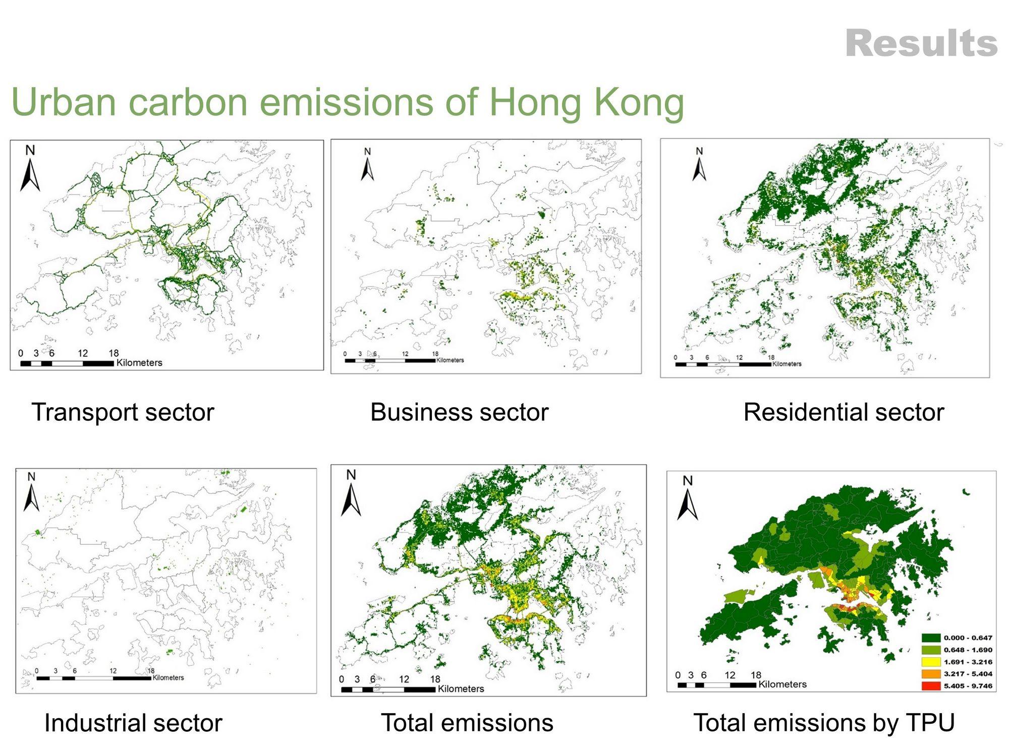 中大建筑学院博士研究生蔡萌开发了一种混合方法,利用开放的城市数据,模拟高分辨率城市碳排放清单。