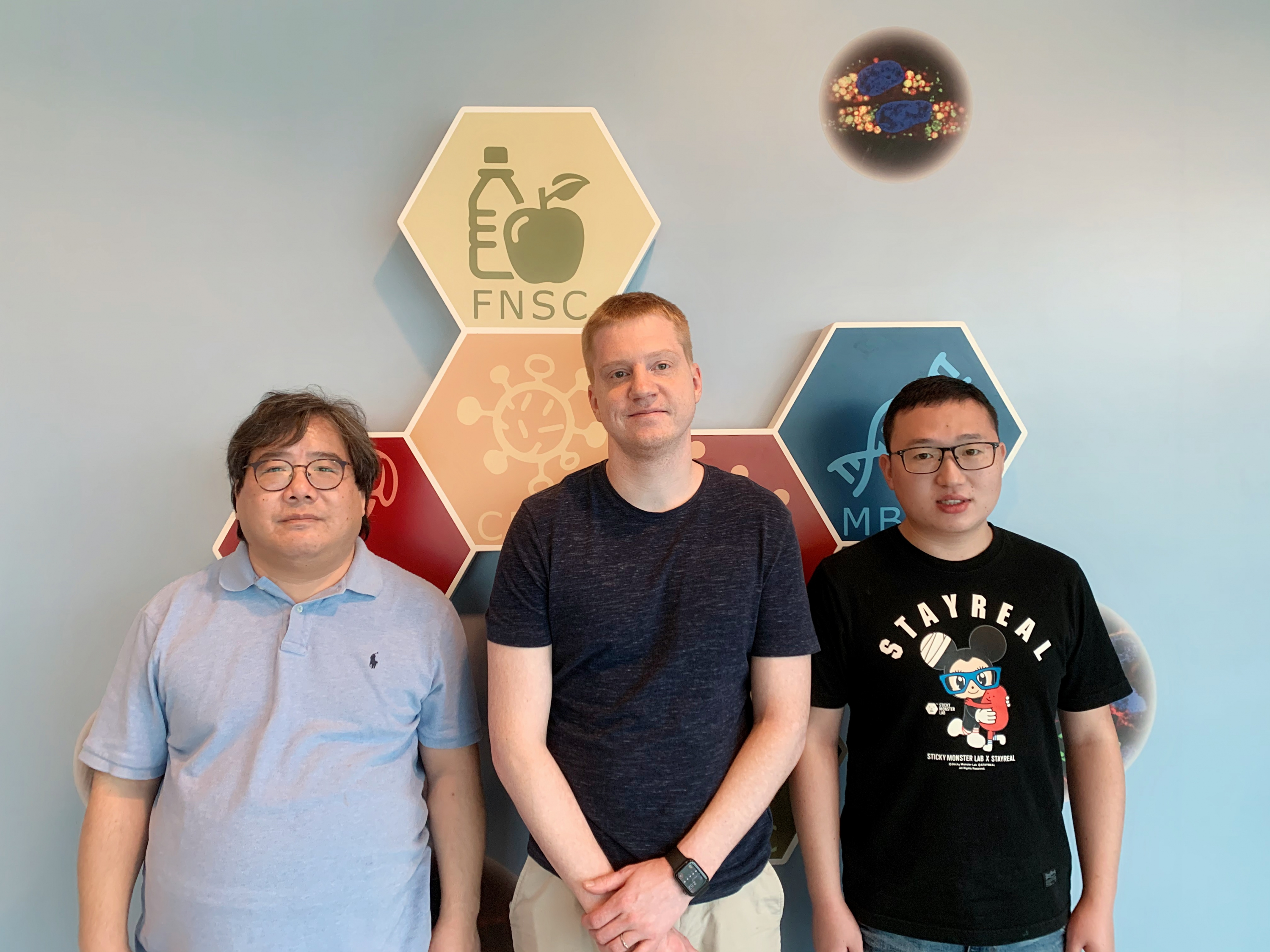 CUHK Research team develops a novel technology for generating biocatalysts. (From left to right: Prof. Michael Chan, Dr. Bradley Heater and Dr. Zaofeng Yang)
