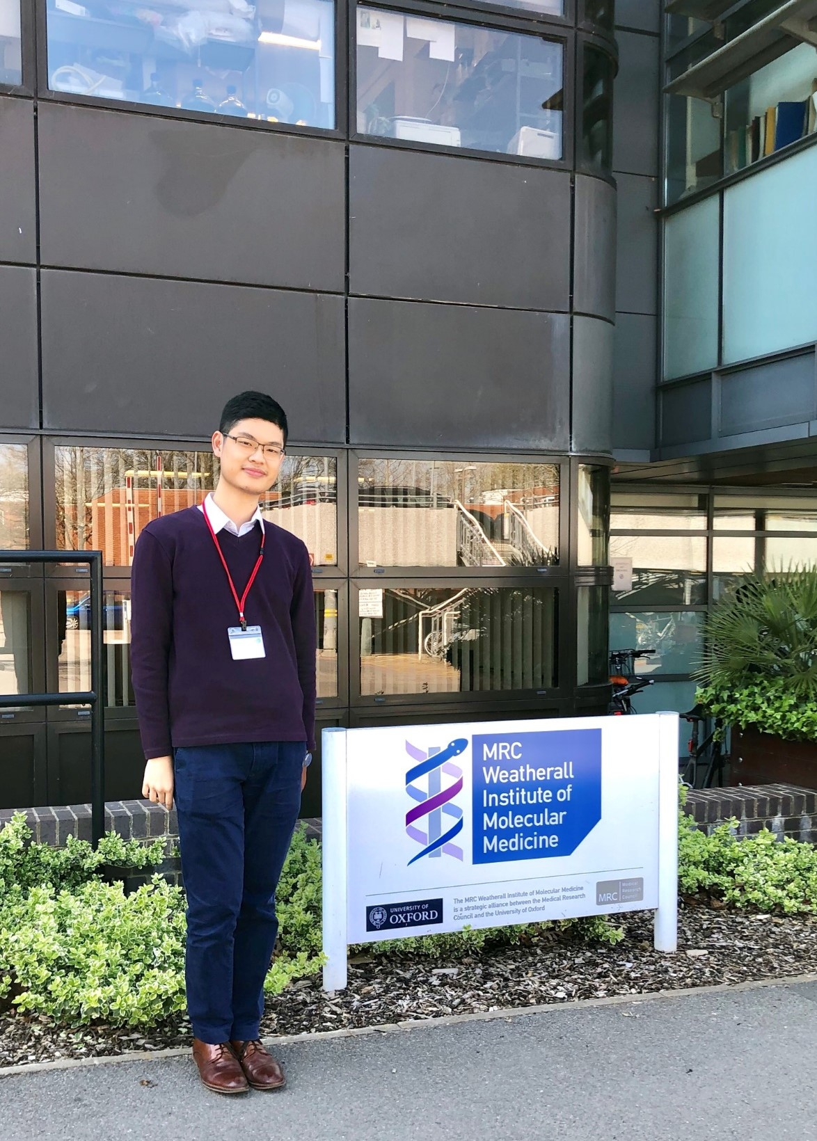 Timothy serves as a student intern at the Weatherall Institute of Molecular Medicine, The University of Oxford