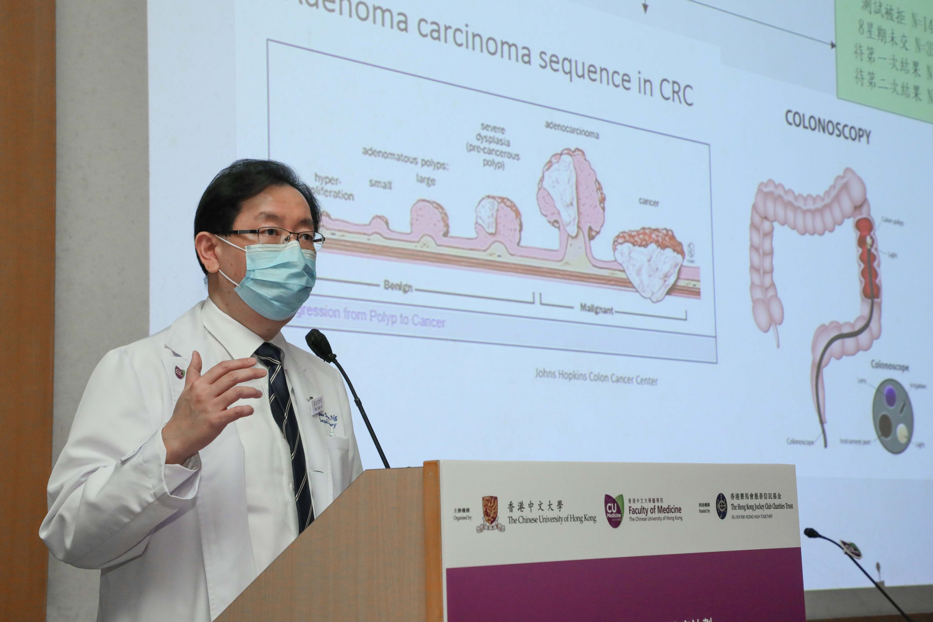 吴兆文教授指出,腺瘤或后期腺瘤均为癌前病变,若未能及时发现,有机会演变成大肠癌。