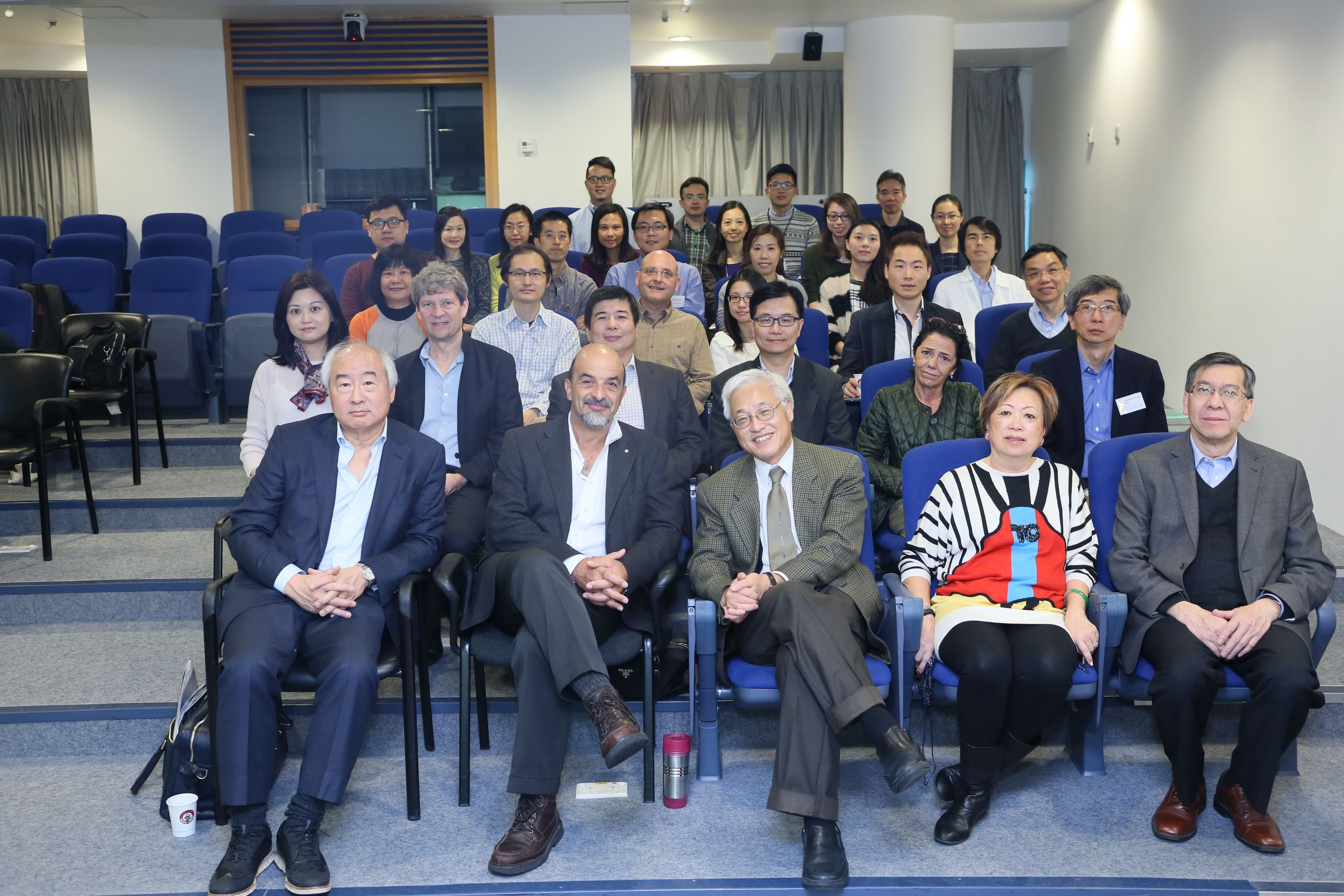 Members of the CUHK-HKU joint research team. The senior authors of the MARVEL project are Professor Paul Tam, Department of Surgery at HKU (middle, front row), Professor Elly Ngan, Department of Surgery at HKU (1st left, second row) and Professor Kevin Yip, Department of Computer Science and Engineering at CUHK (2nd left, third row).
