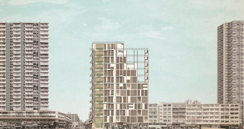姚鑫波《「你」想的可负担住房》构想图。