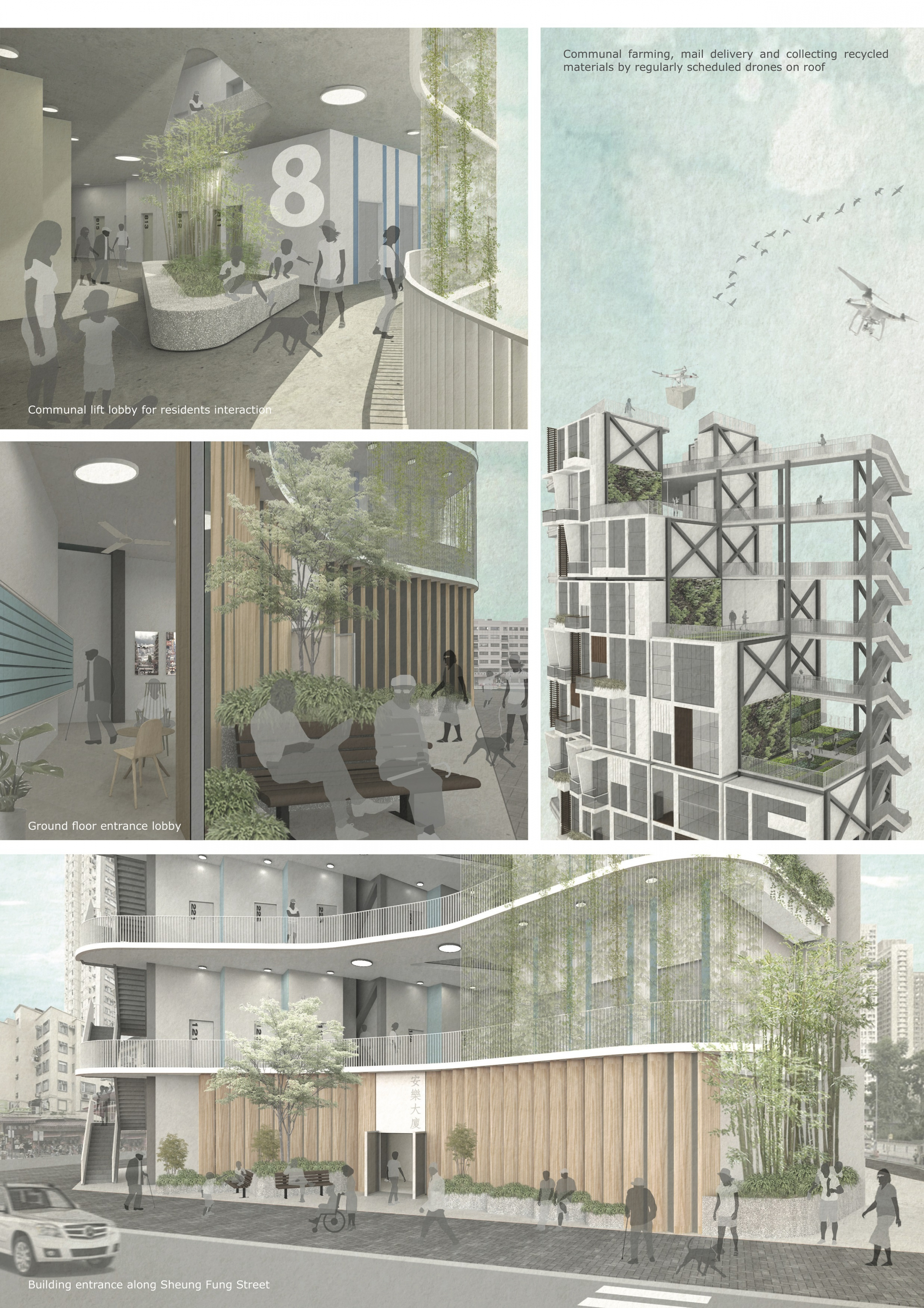 """An Assemble of Tailor-made Homes: First Affordable Housing Pilot Scheme in Tsz Wan Shan"" proposal by Vince Yiu."
