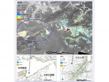 圖3 香港城市部分地區地面沉降衛星遙感監測 (2005年-2006年) 是採用先進的衛星雷達遙感干涉測量技術獲取的2005年至2006年期間香港城市部分地區地面沉降監測結果。所用的遙感資料全部來自於香港中文大學衛星遙感地面站接收的ENVISAT遙感衛星高解析度雷達圖像。初步監測結果表明,香港城區大部分比較穩定。與此同時,中文大學也挑選某些特定區域,利用衛星遙感技術開展長期的地面沉降監測。