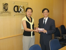Ms. Shelley Zheng and Prof. Andrew Chan, Associate Dean, Faculty of Business Administration (right).