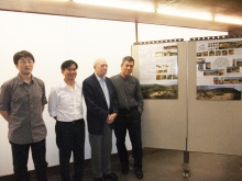 From left: Mr. Mu Jun, Ph.D student, Department of Architecture, CUHK; Prof. Ho Puay Peng, Chairman, Department of Architecture, CUHK; Sir David Akers-Jones, Honorary Chairman, Wu Zhi Qiao (Bridge to China) Charitable Foundation; and Prof. Ng Yan-yung Edward, Professor, Department of Architecture, CUHK
