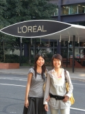 Cindy Chan (left) and Esan Lee, another CUHK student interned at L'Oreal, Paris