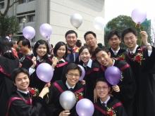 A joyful moment – Prof. Joseph Sung shares the jubilation of fresh graduates