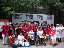Prof. Joseph Sung leads a group of CUHK students and staff to visit Sichuan-Hong Kong Rehabilitation Centre in Chengdu (June 2009)