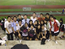 Prof. Joseph Sung cheers students on a sports day