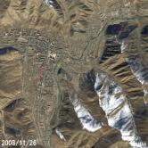 玉樹—震前(衛星SPOT 2008年11月26日2.5米分辨率合成影像)