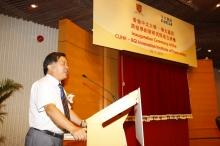 Prof. Yang Huanming gives a speech.
