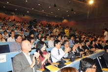 Around 500 guests attend the lecture