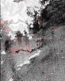 圖3:2010年5月19日10時13分ASAR船隻遙感探測圖像