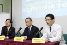 (From left) Professor Kwok Sui LEUNG, Director, Orthopaedic Learning Centre and Professor of Orthopaedics and Traumatology; Professor Tai Fai FOK, Dean, Faculty of Medicine; and Dr. Kwok Chuen WONG, Clinical Assistant Professor (honorary), Department of Orthopaedics and Traumatology, CUHK