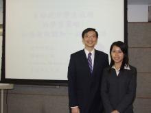 赵明明教授(左)与周咏妍小姐(右)。
