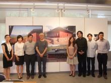 (From right) Mr. Wong Sau-yin, Samuel, Year 2 student; Mr. Xia Heng, PhD student and Prof. Zhu Jingxiang, Associate Professor, School of Architecture, CUHK; Ms. Yu Ching Fen, representative for the Dazu School; Mr. Victor Choi, Hong Kong Dragon Culture Charity Fund; Prof. Ho Puay-peng, Director, School of Architecture; and Ms. Yang Yang, Year 3 student, School of Architecture, CUHK