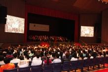 約一千四百名新生出席新生入學典禮