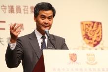 香港特別行政區行政會議非官守議員召集人梁振英博士