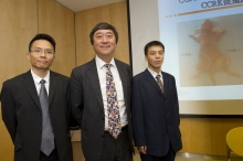 From left: Prof. Alfred Sze Lok CHENG, Prof. Joseph J.Y. SUNG and Dr. Hai FENG discover the reason why liver cancer is more prevalent in men than in women.