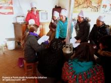 中大學生到內地偏遠貧困及易受災少數民族地區進行健康教育。