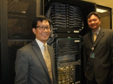 The network switch for exchange of data traffic among different ISPs at HKIX