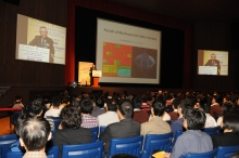 About 700 guests attend the lecture