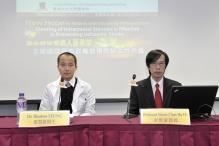 (左起) 中大醫學院內科及藥物治療學系腦神經科副教授梁慧康教授與影像及介入放射學系兼透視微創治療基金臨床科學中心主任余俊豪教授