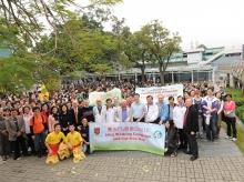 中大「乐步行暨无车日」活动吸引约一千五百名学生及教职员参加。