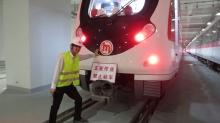 劉俊佑同學攝於杭州一號線鐵路。