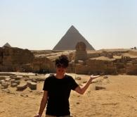 李展儂同學攝於埃及。