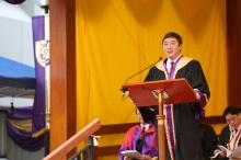 Address by Prof. Joseph Sung, CUHK Vice-Chancellor.