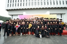Prof. Joseph Sung with graduates of Faculty of Medicine.