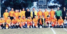 Mr. Ching Mun (6th from left, second row) is an active member in the university football team.