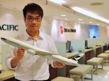 LOK Ki Hei, Vincent interned in Cathay Pacific Airways Ltd. Taiwan Branch during the summer.