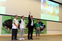 中大校長沈祖堯教授(右二)主持iGEM亞洲分區賽開幕儀式。
