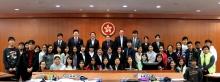所有參賽中學生與中大法律學院成員合照。