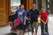 Director Kong King Chu (right) and her camera crew
