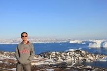 Prof Liu Lin in Greenland. He is shifting his research focus to the glaciers and frozen ground on the Tibet Plateau, the world's third pole.