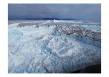 Major outlet glaciers in northeast Greenland disintegration into the ocean.  (Credit:  Finn Bo Madsen.  Khan et al., Nature climate change, 2014 DOI: 10.1038/NCLIMATE2161)