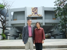 Prof. Guihua Shao passed on her field knowledge to Professor Lam and his students without reservation.