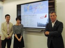 (右起)中大建築學院吳恩融教授、任超教授、地理及資源管理學系嚴鴻霖教授