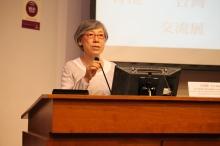 台灣高雄師範大學跨領域藝術研究所所長吳瑪悧女士。