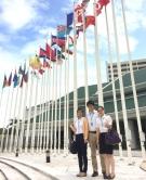 參與第二期實習計劃的中大研究生到達曼谷聯合國亞太經社會總部。