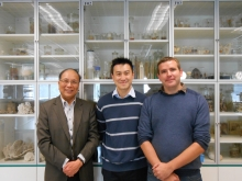 Researchers from CUHK School of Life Sciences discover new DNA to understand animal evolution. From left: Prof. Ka Hou Chu; Prof. Jerome Hui; and Dr. Nathan Kenny.