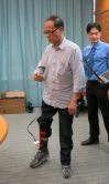A demonstration of the Exoskeleton Ankle Robot by Mr. Wong.