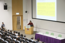 Professor Ho Kin-chung, Dean of School of Science and Technology, OUHK, delivers a keynote speech.