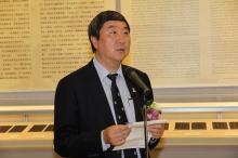 中大校长沈祖尧教授致辞。