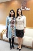 Prof. Rossa Chiu (left) and Prof Jun Yu