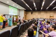 「少年Green的保源之旅」演员与学生互动。